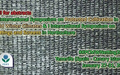 1st International Symposium on Nettings and Screens in Horticulture, 27-31/01/2019